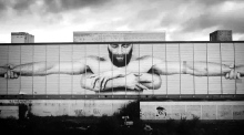 Giant seven-storey mural erected on abandoned Waterford hotel