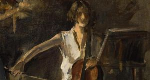 Detail of The Cello Player, by Sir John Lavery, sold at Sotheby's Irish art sale in London