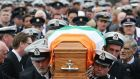 The funeral of Coast Guard volunteer Caitríona Lucas takes place at St Brigid's Church in Liscannor, Co Clare. Photograph: PA