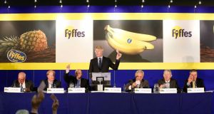 Fyffes, led by David McCann (standing), has moved into the North American mushroom market. Photograph: RollingNews.ie