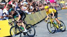 Bradley Wiggins and Chris Froome are among five British athletes whose medical records with the World Anti-Doping Agency have been leaked by computer hackers. Photograph: PA