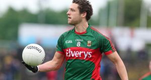 Mayo's Tom Parsons will wear the number nine jersey in Sunday's All-Ireland final. Photograph: Lorraine O'Sullivan/Inpho