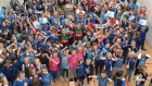 Dublin schoolchildren sing for Sam Maguire