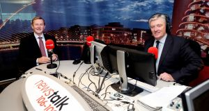 "Enda Kenny with Pat Kenny on Newstalk: the Taoiseach tells the host that he has ""got his mojo back"", a phrase that draws so much mockery that Enda Kenny must wish he could lose it again. Photograph: Maxwells"