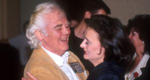 Cherie Blair: Tony Booth dancing with his daughter in 2001. Photograph: Jeff Overs/BBC News via Getty
