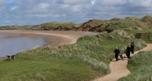 A coastal path at the Doonbeg golf links course and hotel in Co Clare. File photograph: Niall Carson/PA Wire