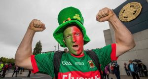 Mayo fan Geoff Langrell at Croke Park for the All-Ireland football final. Photograph: Morgan Treacy/Inpho