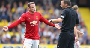 Wayne Rooney: has lost the confidence of the Manchester United crowd. Photograph: Richard Heathcote/Getty