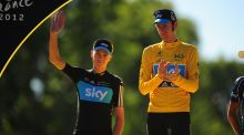 Bradley Wiggins and Chris Froome are among five British athletes whose medical records with the World Anti-Doping Agency have been leaked by computer hackers. Photo: PA