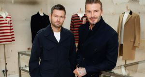 Creative director Daniel Kearns in partnership with David Beckham presented the relaunch of Kent & Curwen. Photograph: Darren Gerrish/Getty Images