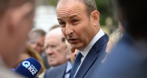 Fianna Fáil leader Micheal Martin  at the  party think-in at the Seven Oaks Hotel, Carlow. Photograph: Dara Mac Dónaill / The Irish Times