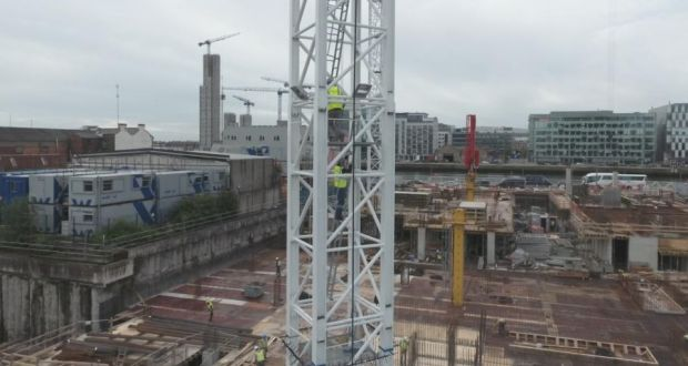 What dublin looks like from the top of an 80 metre crane the crane climb over dublins north docklands fandeluxe Gallery