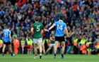 "Mayo's Lee Keegan and Dublin's Diarmuid Connolly: ""Connolly is a frightening proposition and the way Lee coped with him was impressive."" Photograph: Donall Farmer/Inpho"