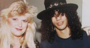 Vicky Hamilton with Slash in 1984. Photograph: Sande Jacobs
