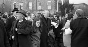 Bernadette McAliskey leading an anti-apartheid march in Dublin in 1970. Photograph: Jimmy McCormack