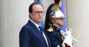 President François Hollande's government is to update its main economic and deficit forecasts on Tuesday. Photograph: Patrick Kovarik/AFP/Getty Images