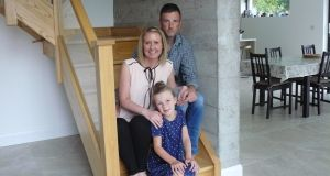 Mike Mills and his wife Anna in their newly built home in Co Meath