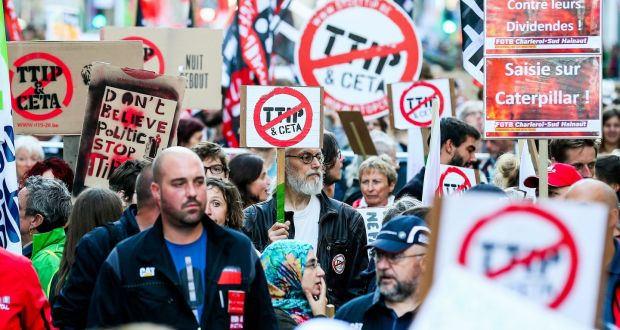 Protests In Brussels As Talks On Eu Us Trade Deal Falter