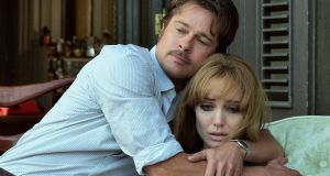 "Brad Pitt and Angelina Jolie in a scene from the film ""By the Sea"". Photograph: Universal Pictures"