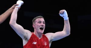 Irish middleweight boxer Michael O'Reilly in action in Baku in 2015. An investigation into O'Reilly's failed doping test  at the Rio Games may not be completed for months. File photograph: Tobias Schwarz/AFP/Getty Images