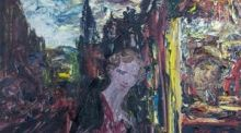 A Man Doing Accounts, by Jack B Yeats, for auction at Adam's (€200,000-€300,000)