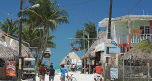 'Downtown' on Holbox Island. There are plenty of bars and restaurants, but the area still retains its authenticity