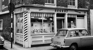 The Regent Barber Shop, Temple Bar, 1967. Photograph: IHI
