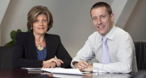 Gibney Communications founder Ita Gibney with managing director Donnchadh O'Neill. Photograph: Fennells