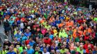 Start of the SSE Airtricity Dublin Marathon in 2015. Photograph: Dara Mac Dónaill / The Irish Times
