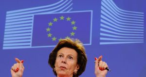 Neelie Kroes was shown to be a director of  Mint Holdings, a company she had not declared when she became the EU's commissioner for competition in 2004. Photograph: AFP/Getty