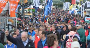Ploughing: Large Crowds on the last day of the championships in Screggan, Tullamore, Co Offaly. Photograph: Alan Betson/The Irish Times