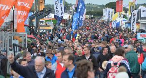 Large crowds on the last day of the National Ploughing Championships in Screggan, Tullamore, Co. Offaly. Photograph: Alan Betson