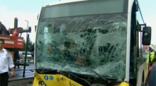 CCTV captures assault on Istanbul bus driver that led to crash