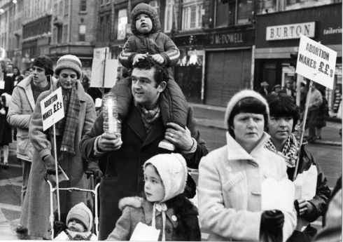 1981: Anti-Abortion march in O'Connell Street, Dublin. Photograph: Tom Lawlor/The Irish Times
