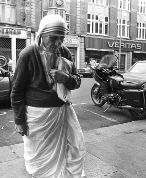 1982: Mother Teresa of Calcutta in Dublin where she addressed a meeting on abortion. Photograph: The Irish Times