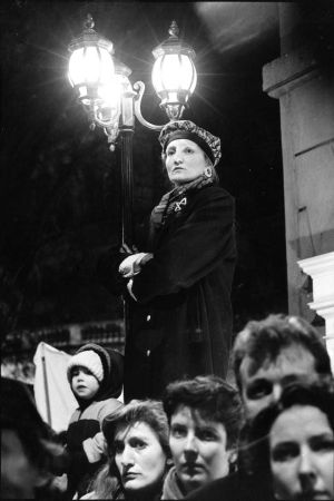 A candlelight vigil outside Leinster House on the night of Wednesday, February 19th, 1992 protesting against the granting of an injunction preventing a 14-year-old girl from terminating a pregnancy. Photograph: Matt Kavanagh/The Irish Times
