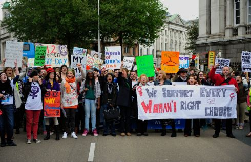 2012:  Protesters pictured during the March for Choice demonstration in Dublin. Photograph: Aidan Crawley/The Irish Times