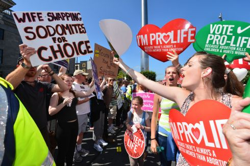 2013: The 7th Rally for Life Anti-Abortion demonstration passes through O'Connell Street, Dublin. Photograph: Alan Betson/The Irish Times