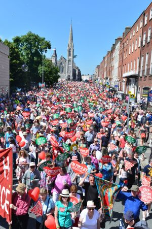 2013: The 7th Rally for Life Anti Abortion Demonstration leaves from Parnell Square in Dublin. Photograph: Alan Betson/The Irish TImes