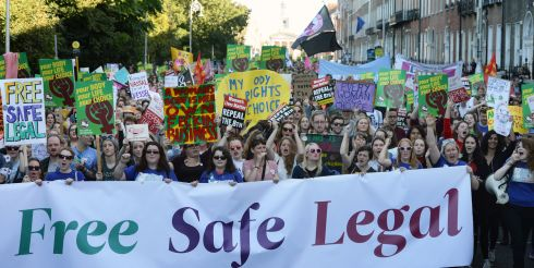 2015: People taking on a March for Choice organised by the Abortion Rights Campaign at Merrion Square, Dublin. Photograph: Eric Luke/The Irish Times