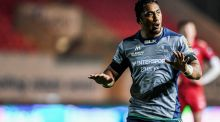 Bundee Aki during Connacht's defeat at Parc y Scarlets. Photograph: Inpho