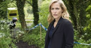 Gillian Anderson as  DSI Stella Gibson in series three of The Fall. Photograph: Helen Sloan