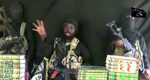 This screen grab  taken on Sunday from a video released on Youtube by Islamist group Boko Haram appears to show Boko Haram leader Abubakar Shekau making a statement at an undisclosed location. Photograph: AFP/Getty Images