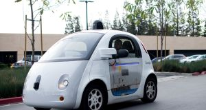 A self-driving car at Google's HQ in Mountain View, California on January 8th, 2016. Photograph: AFP/Noah Berger /Getty