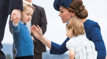 Left hanging: Britain's Prince George rebuffs Canadian PM