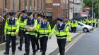 Gardaí will in future be permitted to work the unpaid additional hours required by the Government under productivity reforms in modules of 15 minutes at the end of their shifts. Photograph: Nick Bradshaw/The Irish Times