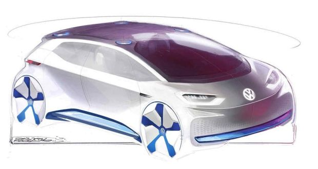 First sketches of VW's crucial new electric concept car shown