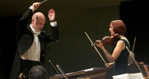Violinist Elaine Clarke with the RTÉ National Symphony Orchestra and Gavin Maloney, conductor