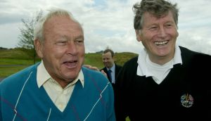 "Arnold Palmer with Michael Smurfit at the K Club in 2003. ""He was the most charismatic golfer in the world, that's for sure. Photograph: Morgan Treacy/Inpho /"