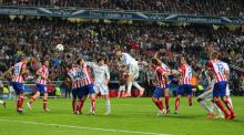 Toby Alderweireld (far right) can only watch as Sergio Ramos of Real Madrid scores  a late equaliser against Atlético in the 2014 Champions League final. Photograph: AMA/Corbis via Getty Images